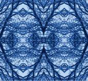 Άνευ ραφής μπλε σχέδιο χιονιού Στοκ Εικόνα