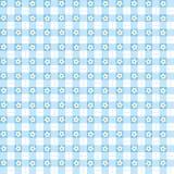 Άνευ ραφής μπλε floral gingham υπόβαθρο Στοκ Εικόνες