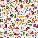Άνευ ραφής νέο έτος σχεδίων Στοκ Φωτογραφία