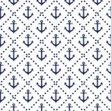 Άνευ ραφής ναυτικό σχέδιο με το διαγώνιο υπόβαθρο ναυτικών χρωμάτων αγκύρων γραμμών Στοκ Εικόνες
