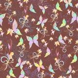 Άνευ ραφής ντεμοντέ κλασικό σχέδιο με τις πεταλούδες Στοκ εικόνα με δικαίωμα ελεύθερης χρήσης