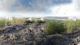 Άνευ ραφής νότος Medina από πέρα από το βουνό στο απόγευμα απόθεμα βίντεο