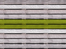 Άνευ ραφής ξύλινη σύσταση του πατώματος ή του πεζοδρομίου με τη Πράσινη Γραμμή, ξύλινη παλέτα Στοκ Φωτογραφίες