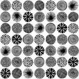 Άνευ ραφής ομιλία με τους αφηρημένους κύκλους Στοκ Εικόνα