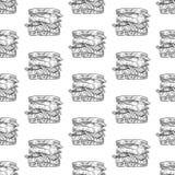 Άνευ ραφής ορεκτικά σάντουιτς απεικόνιση αποθεμάτων