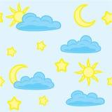 άνευ ραφής ουρανός Απεικόνιση αποθεμάτων