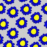 Άνευ ραφής λουλούδια κινούμενων σχεδίων σχεδίων Στοκ φωτογραφία με δικαίωμα ελεύθερης χρήσης