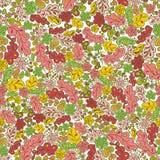 Άνευ ραφής λουλούδι και φύλλο σχεδίων Στοκ Εικόνα