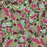 Άνευ ραφής λουλούδι και φύλλο σχεδίων Στοκ φωτογραφία με δικαίωμα ελεύθερης χρήσης