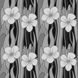 Άνευ ραφής λουλούδι grayscale διανυσματική απεικόνιση