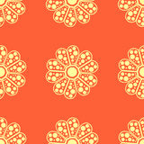 Άνευ ραφής λουλούδι pattern4 Στοκ Εικόνες