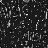 Άνευ ραφής πίνακας μουσικής Στοκ εικόνα με δικαίωμα ελεύθερης χρήσης