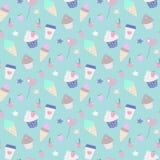 Άνευ ραφής παγωτό κομμάτων σχεδίων Στοκ Εικόνες