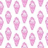 Άνευ ραφής παγωτό σχεδίων Στοκ Εικόνα