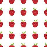 Άνευ ραφής παιδιάστικο σχέδιο κινούμενων σχεδίων της Apple Στοκ Εικόνες