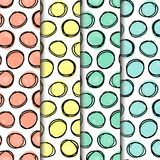 Άνευ ραφής πακέτο σχεδίων, doodle μορφές κύκλων που ευθυγραμμίζονται σε 3 direrent πλέγματα Στοκ φωτογραφία με δικαίωμα ελεύθερης χρήσης