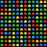Άνευ ραφής παραγμένο σχέδιο τεράτων παιχνιδιού στοκ εικόνες