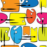 Άνευ ραφής παλέτα και βούρτσες σχεδίων Στοκ Εικόνες