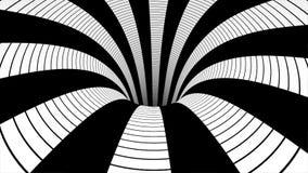 Άνευ ραφής περίληψη μέσα στο γραπτό ταξίδι σηράγγων Αφηρημένη ζωτικότητα κινήσεων σε μια γραπτή σήραγγα απεικόνιση αποθεμάτων