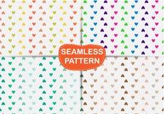 Άνευ ραφής περίληψη καρδιών σχεδίων, Στοκ φωτογραφία με δικαίωμα ελεύθερης χρήσης