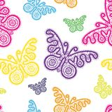 Άνευ ραφής πεταλούδες σχεδίων Στοκ Φωτογραφία