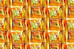 Άνευ ραφής πορτοκαλί και πράσινο σχέδιο διανυσματική απεικόνιση