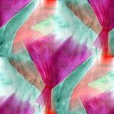 Άνευ ραφής πορφυρό, πράσινο σύγχρονο textur ταπετσαριών καλλιτεχνών watercolor απεικόνιση αποθεμάτων