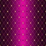 Άνευ ραφής πορφυρό σχεδίων wiith δικτυωτό πλέγμα rhombuses κλίσης χρυσό στοκ φωτογραφία