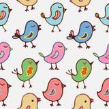 Άνευ ραφής πουλιά κινούμενων σχεδίων σχεδίων Στοκ Φωτογραφία