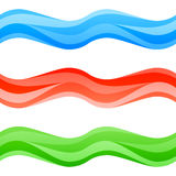 Άνευ ραφής πολύχρωμα κύματα καθορισμένα Στοκ Εικόνες