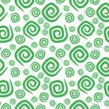 Άνευ ραφής πράσινα curlicues σχεδίων Στοκ Εικόνα