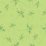 Άνευ ραφής πράσινη ανασκόπηση προτύπων λουλουδιών Στοκ Εικόνες