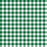 Άνευ ραφής πράσινη ελεγμένη σύσταση υποβάθρου σχεδίων υφάσματος Στοκ Εικόνες