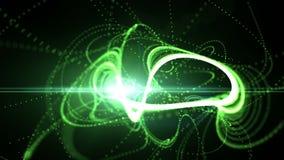 Άνευ ραφής πράσινο αμαρτωλό αφηρημένο υπόβαθρο κινήσεων απεικόνιση αποθεμάτων