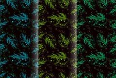 Άνευ ραφής πράσινο ημι αφηρημένο ύφος φύλλων Στοκ Εικόνα