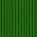 Άνευ ραφής πράσινο πλέκοντας σχέδιο Στοκ Εικόνες