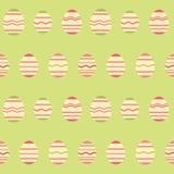 Άνευ ραφής πράσινο σχέδιο άνοιξη αυγών Πάσχας Στοκ Εικόνα