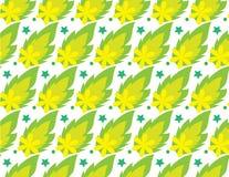 Άνευ ραφής πράσινο φύλλο σχεδίων Ελεύθερη απεικόνιση δικαιώματος