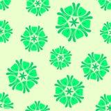 Άνευ ραφής πράσινο boho υποβάθρου κομψό Στοκ Φωτογραφία