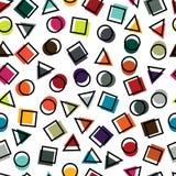 Άνευ ραφής πρωτόγονα γεωμετρικά σχέδια για τον ιστό και τις κάρτες Στοκ Φωτογραφίες