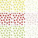 Άνευ ραφής πρότυπα μήλων Στοκ φωτογραφίες με δικαίωμα ελεύθερης χρήσης