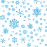 Άνευ ραφής πρότυπο από snowflakes Στοκ εικόνα με δικαίωμα ελεύθερης χρήσης