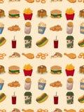 Άνευ ραφής πρότυπο γρήγορου φαγητού ελεύθερη απεικόνιση δικαιώματος