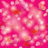 Άνευ ραφής πρότυπο ημέρας βαλεντίνου με τις καρδιές Στοκ φωτογραφία με δικαίωμα ελεύθερης χρήσης