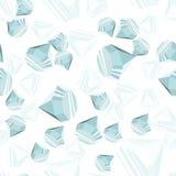 Άνευ ραφής πρότυπο διαμαντιών Στοκ φωτογραφίες με δικαίωμα ελεύθερης χρήσης