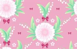 Άνευ ραφής πρότυπο λουλουδιών Χαριτωμένο σχέδιο Ταπετσαρία Seasom Στοκ φωτογραφίες με δικαίωμα ελεύθερης χρήσης