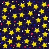 Άνευ ραφής πρότυπο με τα αστέρια κινούμενων σχεδίων Στοκ εικόνα με δικαίωμα ελεύθερης χρήσης