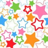 Άνευ ραφής πρότυπο με τα αστέρια Στοκ φωτογραφίες με δικαίωμα ελεύθερης χρήσης