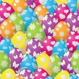 Άνευ ραφής πρότυπο με τα αυγά Πάσχας Στοκ Εικόνα