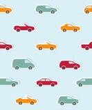 Άνευ ραφής πρότυπο με τα αυτοκίνητα εγγράφου Στοκ εικόνα με δικαίωμα ελεύθερης χρήσης